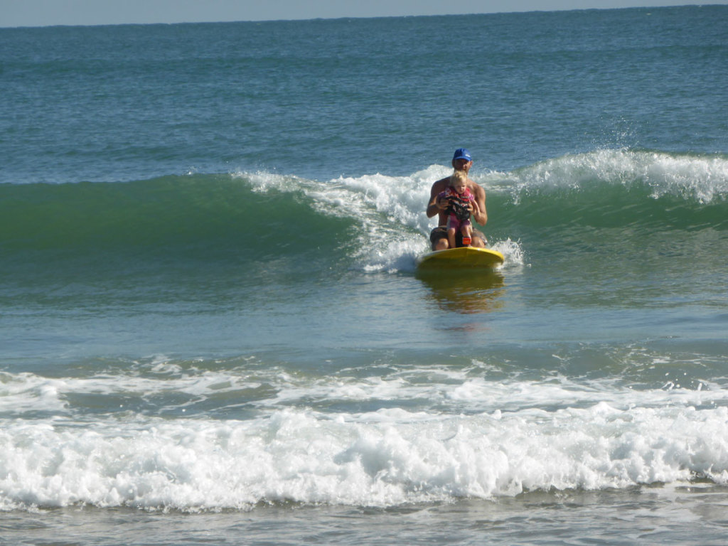 Celeste's first SUP surfing adventues in Agnes Water