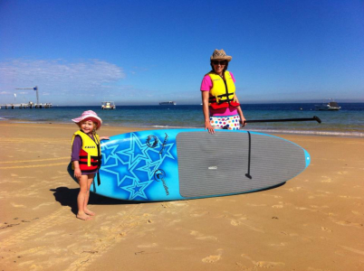 First ever SUP trial. How huge is this board!