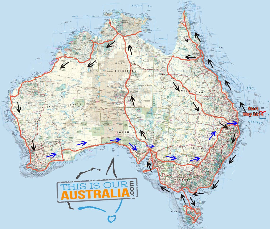 Caravan road trip itinerary around australia map plan gumiabroncs Image collections