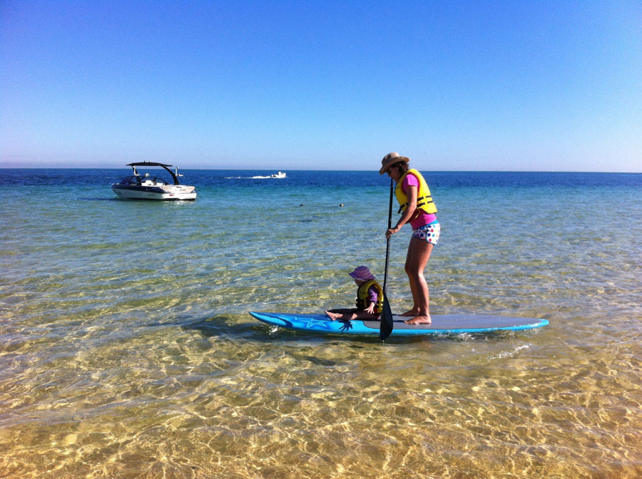 SUP in Moreton Island