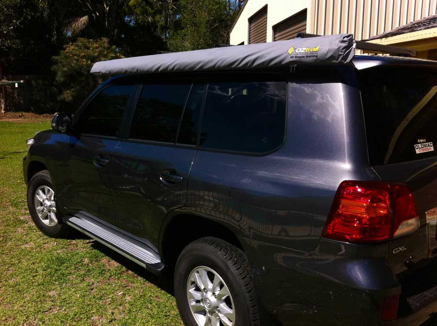 oztrail awning rolled up