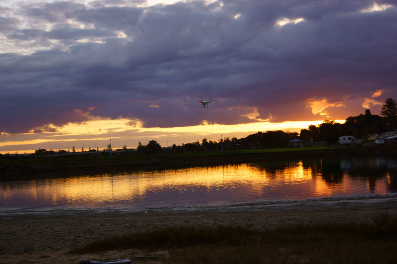 ballina-sunset-drone
