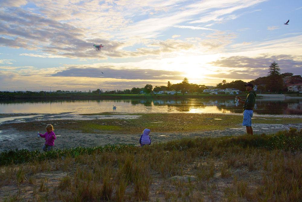 ballina-sunset-family-drone