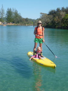 On my old Naish in Brunswick Heads
