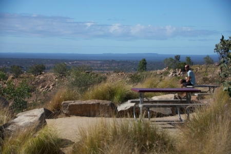 Warrick at the top of Charters Towers
