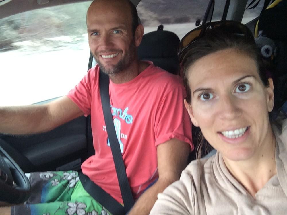 Warrick and Fab driving across Queensland