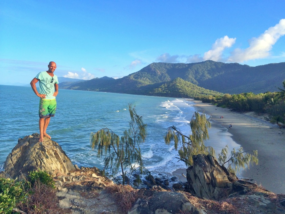 Warrick at the top of Thala Beach Nature Reserve in Port Douglas