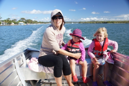 Crabbing in the Mako Craft tinnie on the Noosa River