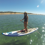 Fabie on her 12.6 Astro Inflatable from Starboard