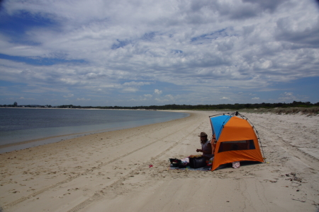 A day on a secluded beach
