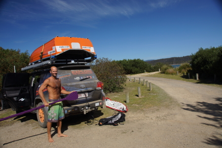 Getting ready for a paddle at Narawntapu National Park